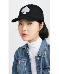 Kate Spade Spade Baseball Hat - Black