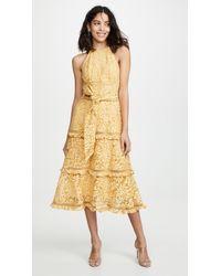 Keepsake Imagine Midi Dress - Yellow