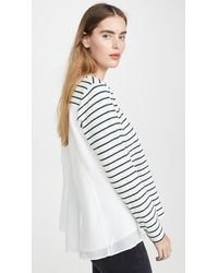 CLU Stripe Shirt With Paneled Back - Multicolor