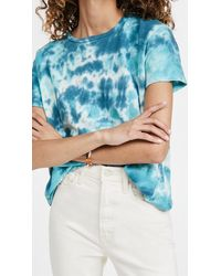 Mother The High Sparrow Cropped Tee - Blue