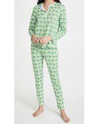 Roberta Roller Rabbit Monkeys Pyjamas - Green