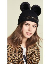 Kate Spade - Faux Fur Hat With Ears - Lyst