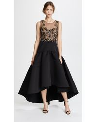 Notte by Marchesa | Sleeveless High Low Dress With Embroidery | Lyst
