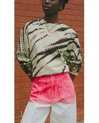 PROENZA SCHOULER WHITE LABEL Modified Raglan Tie Dye Sweatshirt - Multicolour