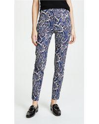 Diane von Furstenberg - High Waist Skinny Trousers - Lyst