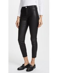 Blank NYC The Principle Mid Rise Vegan Leather Skinny Trousers - Black