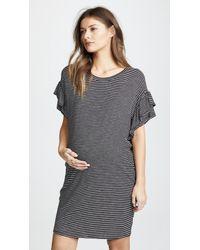 Ingrid & Isabel - Ruffle Sleeve T-shirt Dress - Lyst