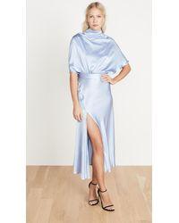 Ellery Soul Driver Cape Sleeve Dress - Blue