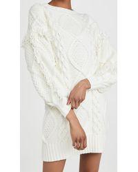 Line & Dot Jasper Fringe Dress - White