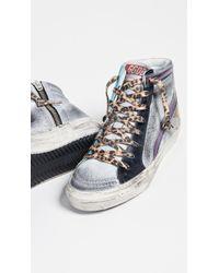 cd0b5279d4435 Lyst - Golden Goose Deluxe Brand Slide Sneakers - Navy Denim in Blue