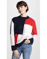 English Factory - Patchwork Knit Jumper - Lyst