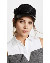 Hat Attack - Leather Emmy Cap - Lyst