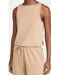 Vince Cropped Swing Tank - Natural