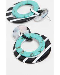 Lele Sadoughi Banded Hoop Earrings - Multicolor