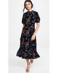 Sea Mari Dolman Midi Dress - Blue