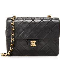 What Goes Around Comes Around - Chanel Half Flap Bag (previously Owned) - Lyst
