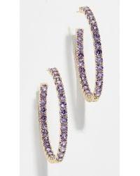 Shashi - Bianca Hoop Earrings - Lyst