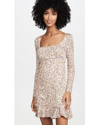 Free People Boheme Mini Dress - Multicolour