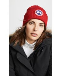 Canada Goose Artic Disc Toque Beanie - Red