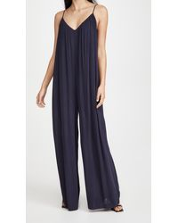 L'Agence Hina Sleeveless Loose Jumpsuit - Blue
