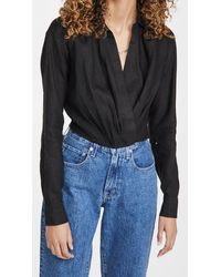 Marissa Webb Maxwell Linen Shirt - Black