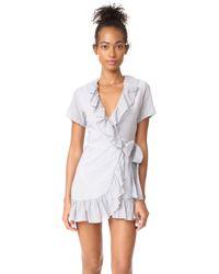 Sincerely Jules - Striped Gauze Ruffle Dress - Lyst