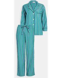 Sleepy Jones Marina Pajama Set - Blue