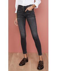 Edwin Pixie Mid Rise Skinny Jeans - Black