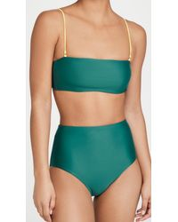 Madewell Nic Removable Strap Bandeau Top - Green