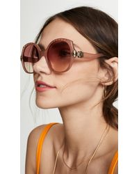 Chloé Vera Oversized Square Sunglasses - Multicolour