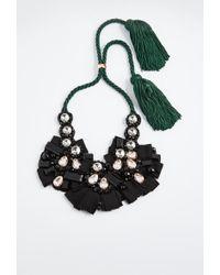 Lizzie Fortunato Moonlight Bib Necklace - Black