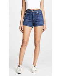 RE/DONE - High Darted Button Tab Shorts - Lyst