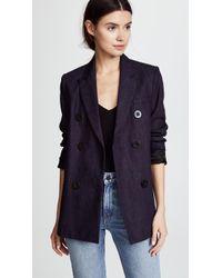 Victoria, Victoria Beckham Tailored Denim Jacket - Blue