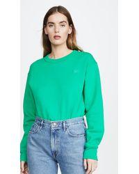 Acne Studios Fairview Face Sweatshirt - Green