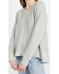 Wilt Big Backslant Sweatshirt - Grey