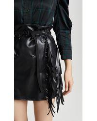 Toga Rubber Coating Skirt - Black