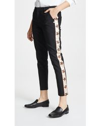 Scotch & Soda - Side Embroidered Tailored Pants - Lyst