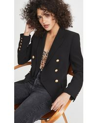 L'Agence Kenzie Double Breasted Blazer - Black