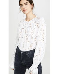 Free People Olivia Lace Top - White