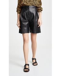 VEDA - Milano Smooth Leather Shorts - Lyst