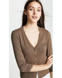 Three Dots - Cardigan With Shirred Sleeves - Lyst