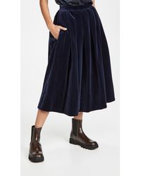 Tibi Full Skirt - Blue