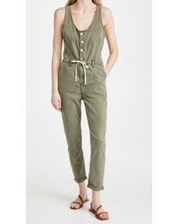 PAIGE Christy Utility Jumpsuit - Green