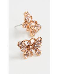 Oscar de la Renta Pave Butterfly Stud Earrings - Pink