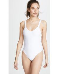 Vitamin A X Lauren Bushnell Leah Bodysuit - White