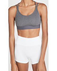 Tory Sport Melange Cross Back Bra - Grey