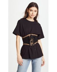 Kendall + Kylie - Corset Tee - Lyst