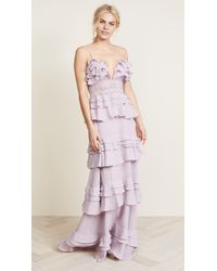 Glamorous - True Decadence Ruffle Gown - Lyst