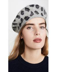 Hat Attack Leopard Beret - Grey