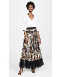 Camilla Sheer Tiered Circle Skirt / Dress - Multicolor